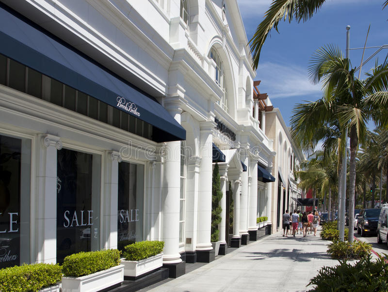 Beverly Hills Rodeo Drive Exclusive Shops Editorial Photo