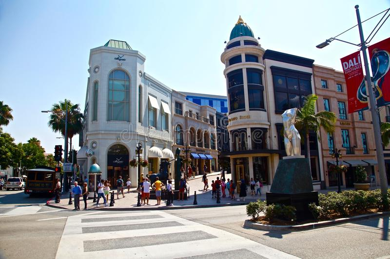 Beverly hills on rodeo drive. Rodeo drive in Los angeles, California stock images