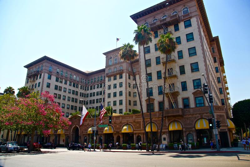 Beverly hills on rodeo drive. Rodeo drive in Los angeles, California royalty free stock photo