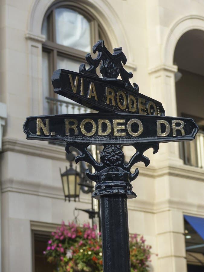 Beverly Hills Rodeo Drive Sign immagine stock libera da diritti