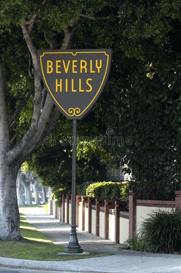 Free Beverly Hills Sign Royalty Free Stock Photography - 527827