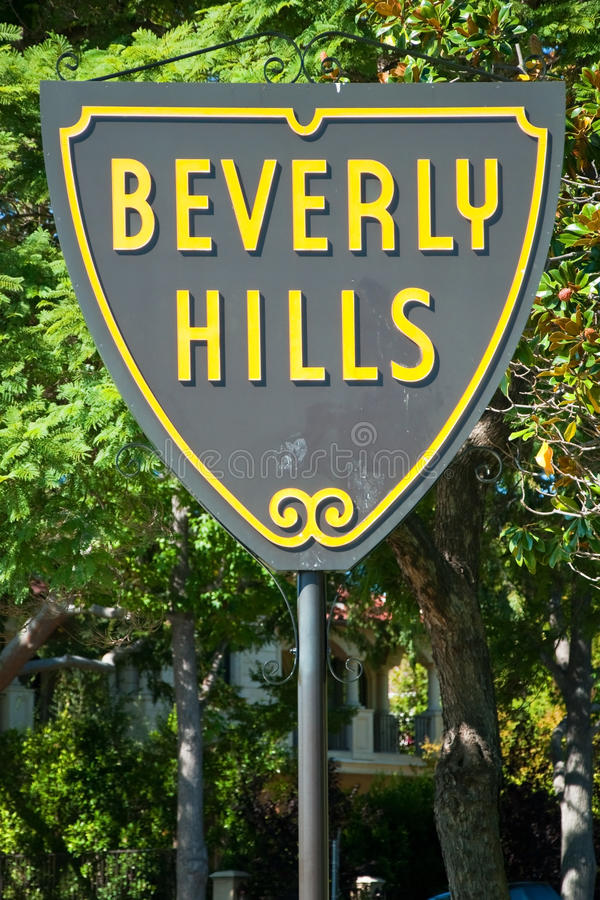 Download Beverly Hills Sign In Los Angeles Park Stock Image - Image: 28849619