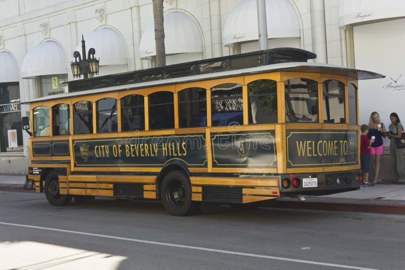 Beverly Hills spårvagn på rodeodrevet royaltyfria bilder