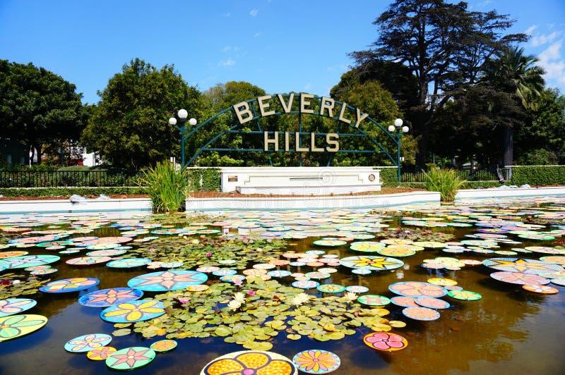 Beverly Hills stadstecken royaltyfria foton