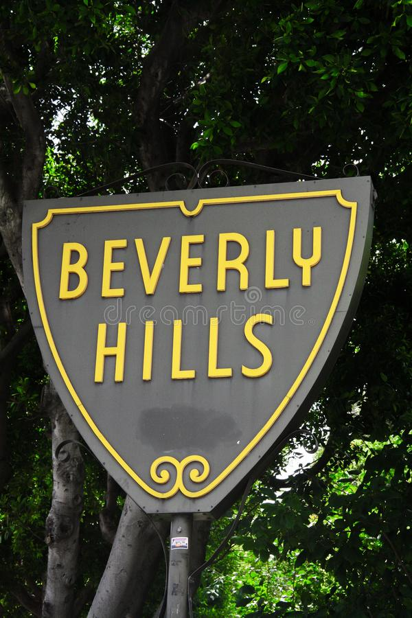 Beverly Hills Street Sign arkivbild