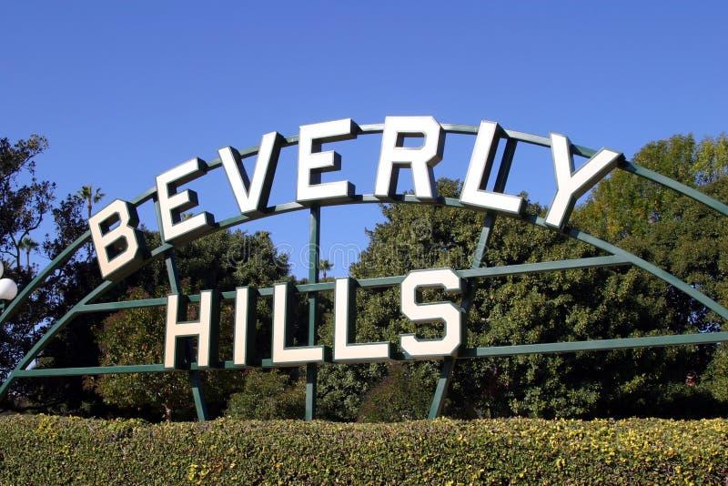 Beverly Hills tecken royaltyfri foto