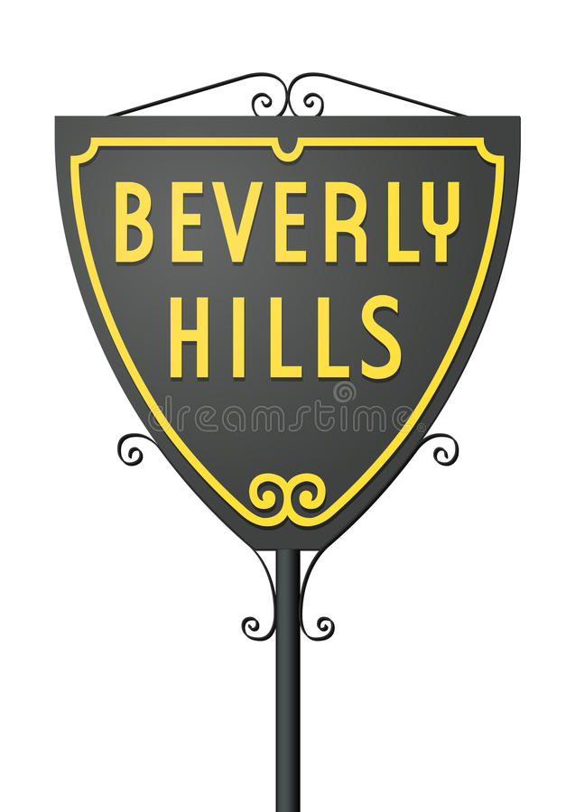 Beverly Hills tecken royaltyfri illustrationer