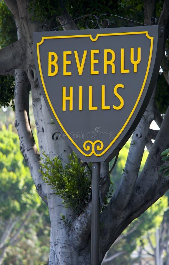 Beverly Hills tecken arkivfoton