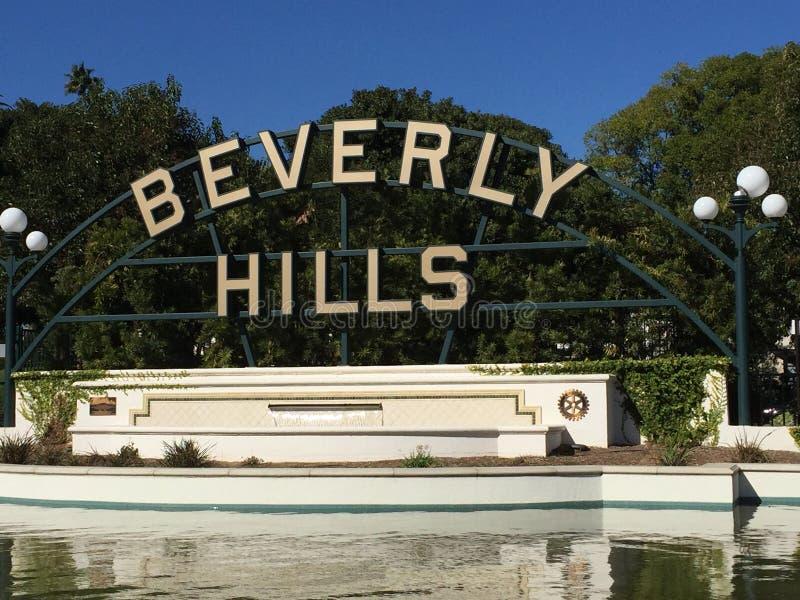 Beverly Hills tecken arkivbilder