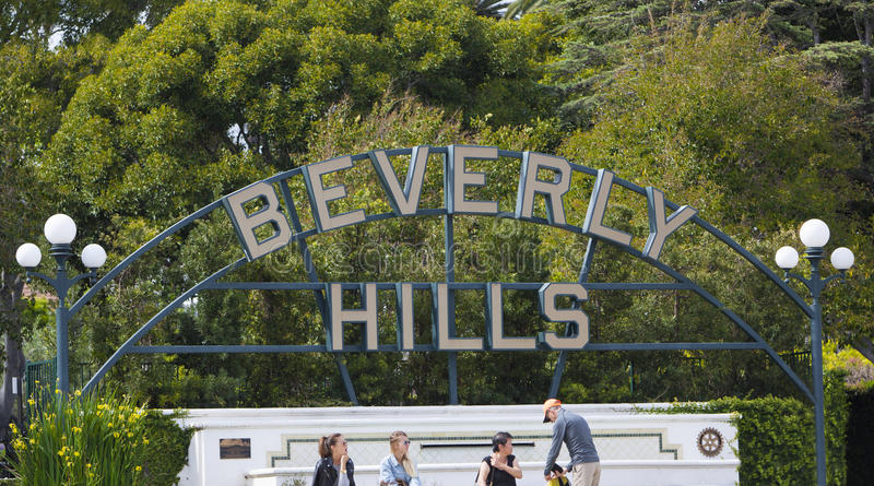 Beverly Hills tecken royaltyfri bild