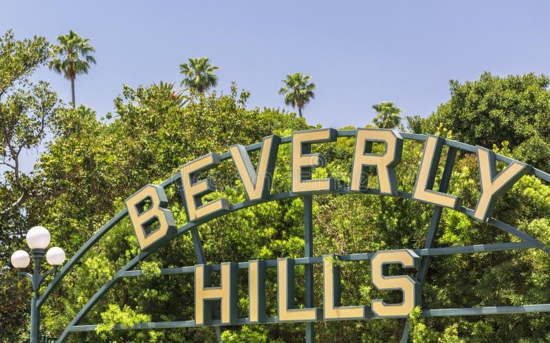 Beverly Hills tecken, Beverly Hills, Los Angeles, Kalifornien, Amerikas förenta stater, Nordamerika royaltyfria foton