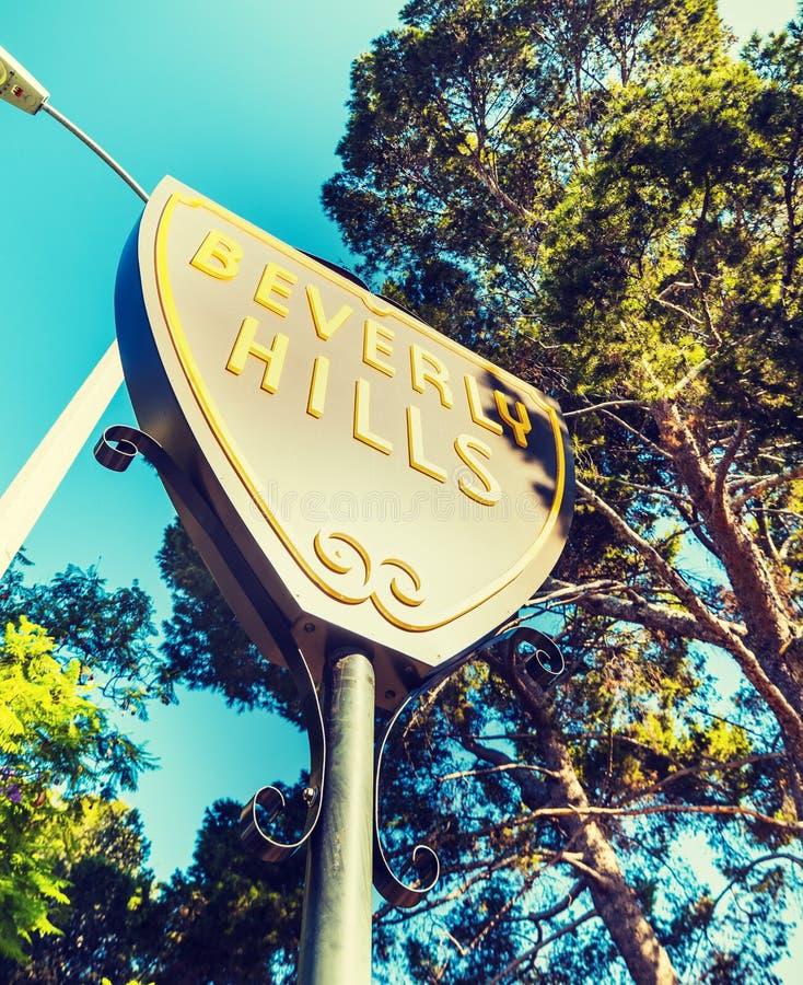 Beverly Hills tecken på en klar dag royaltyfria bilder