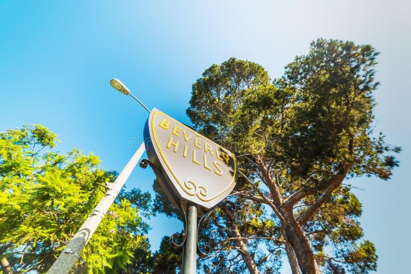 Beverly Hills tecken på en klar dag arkivbild