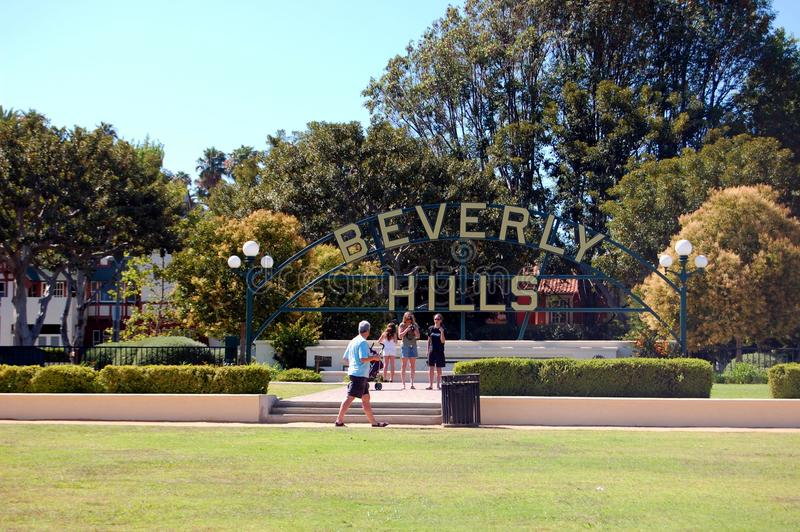 Beverly Hills turist royaltyfria bilder