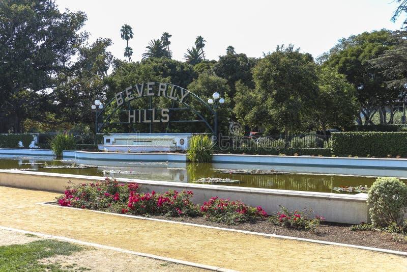Beverly Hills undertecknar in Los Angeles royaltyfri fotografi