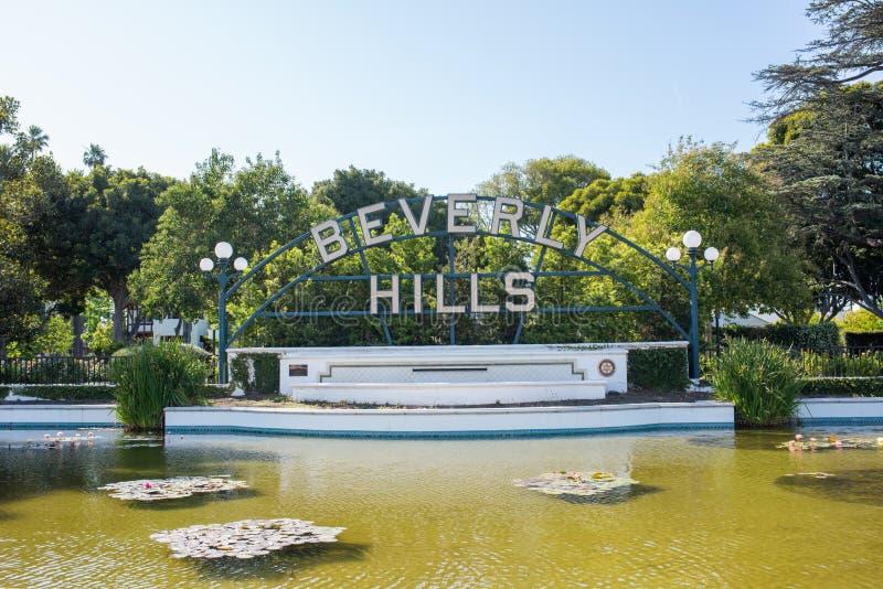 beverly Kalifornien kullar royaltyfri bild