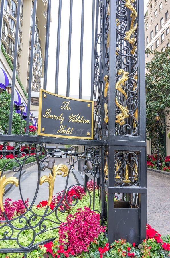Beverly Wilshire Hotel royaltyfri bild