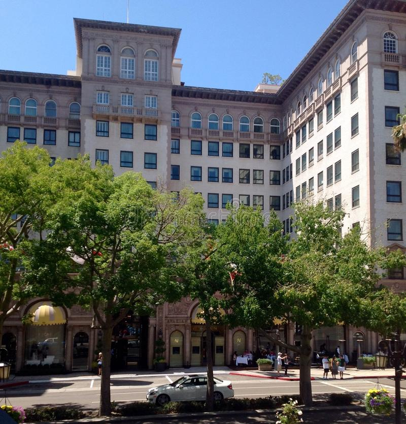 Beverly Wilshire Hotel i Los Angeles, Kalifornien, USA arkivbilder