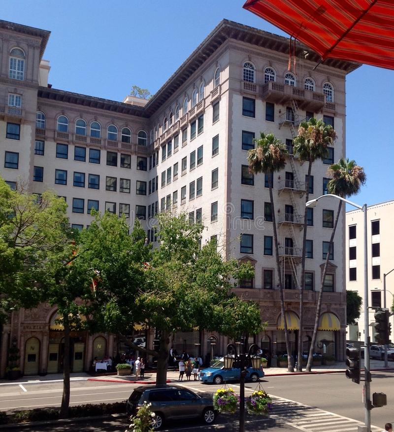 Beverly Wilshire Hotel i Los Angeles, Kalifornien, USA arkivbild