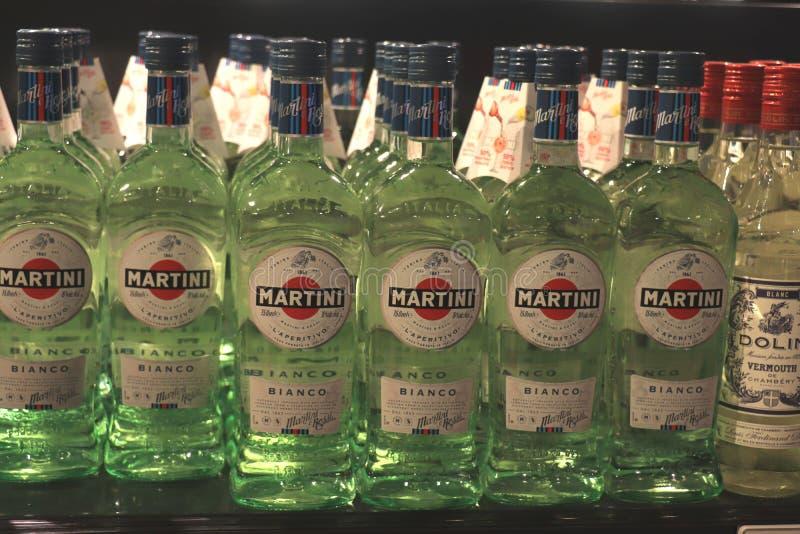 Beverwijk,荷兰,2018年12月15日:在酒店的瓶 库存图片
