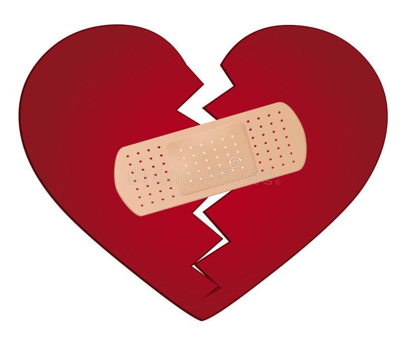 Bevestig een gebroken hartconcept royalty-vrije illustratie