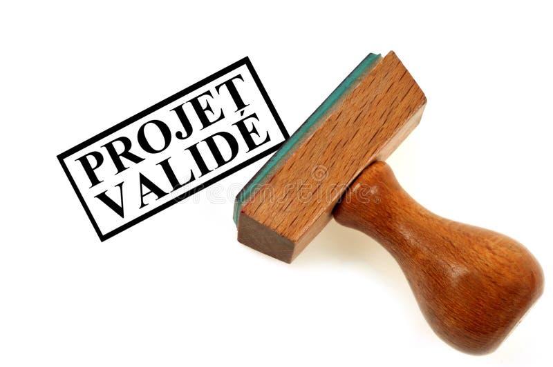 Bevestigd die project in het Frans wordt geschreven royalty-vrije illustratie