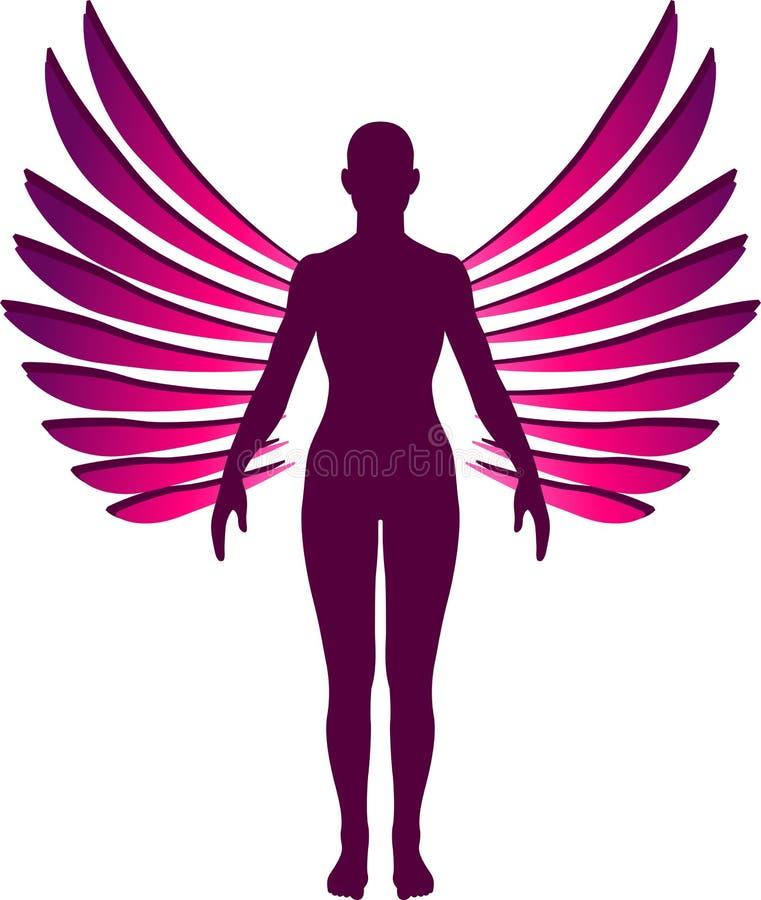 Bevindend engelenembleem vector illustratie