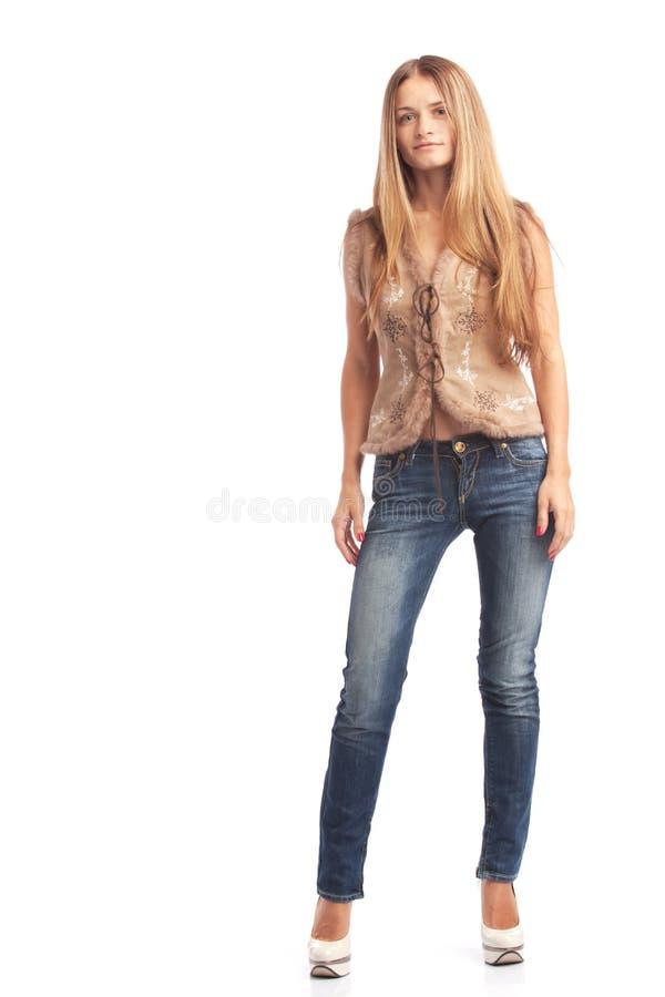 Bevindend meisje stock afbeelding