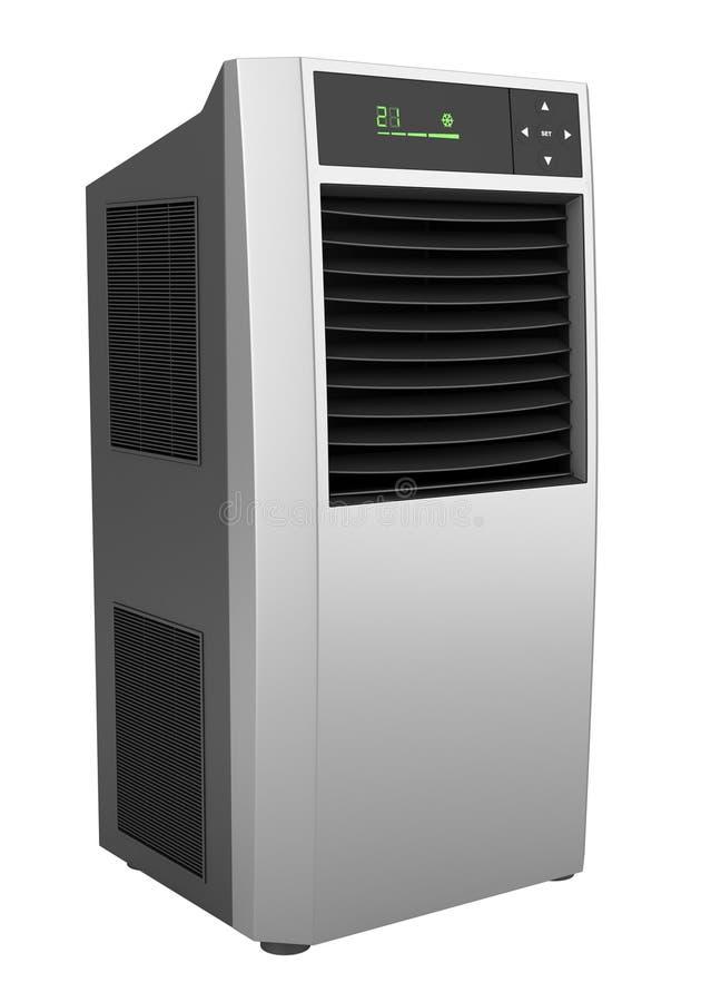 Bevindende airconditioner die op wit wordt geïsoleerd royalty-vrije illustratie