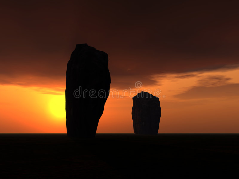 Bevindende Stenen 3 royalty-vrije illustratie