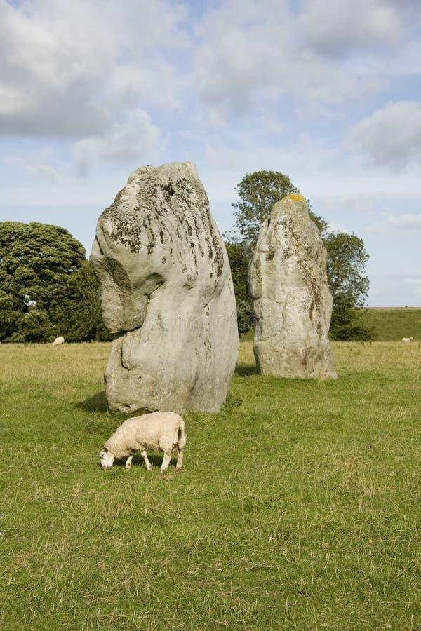 Bevindende stenen, Ring Avebury royalty-vrije stock afbeeldingen