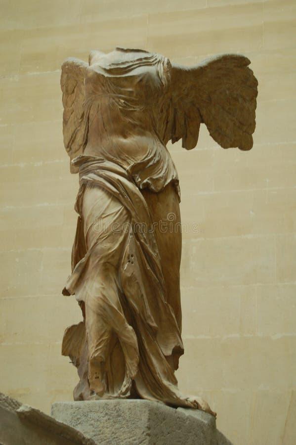 Bevingad seger av Samothrace på Louvre arkivbild