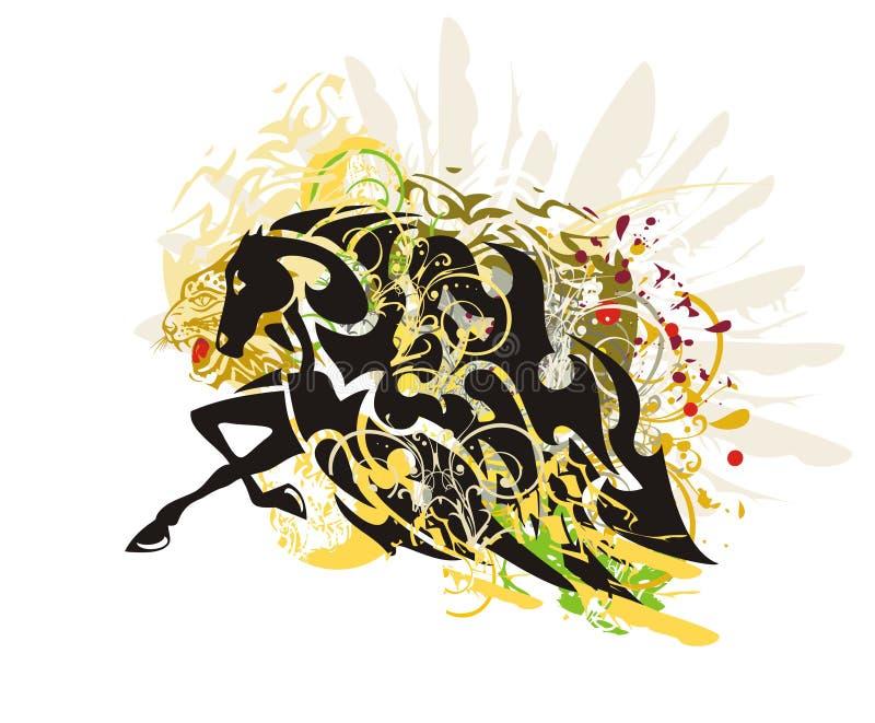 Bevingade hästfärgstänk vektor illustrationer