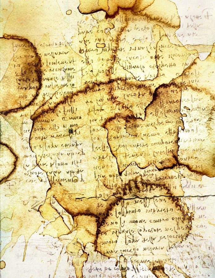 Bevlekt Document XI vector illustratie