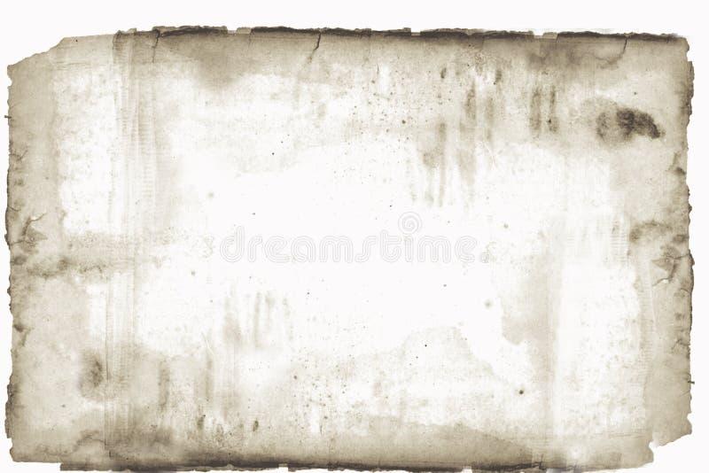 Bevlekt en torned oud document vector illustratie