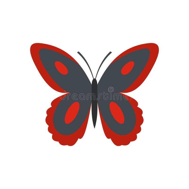 Bevlekt vlinderpictogram, vlakke stijl vector illustratie