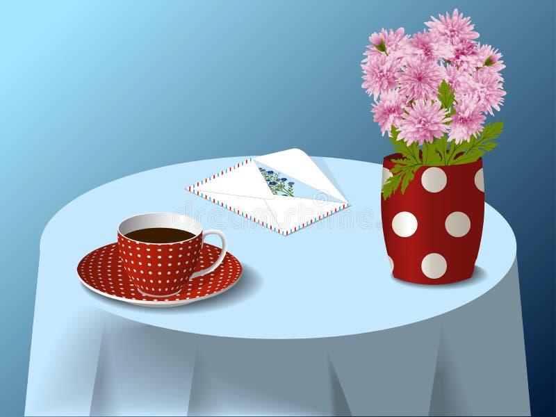 Bevlekte kop en vaas vector illustratie