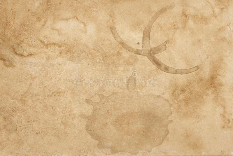 Bevlekte oude document grunge abstracte de textuurachtergrond van de patroonoppervlakte stock afbeelding