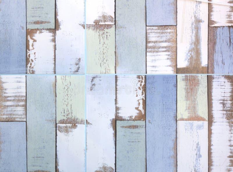 Bevloering van het tegels de houten parket stock afbeelding