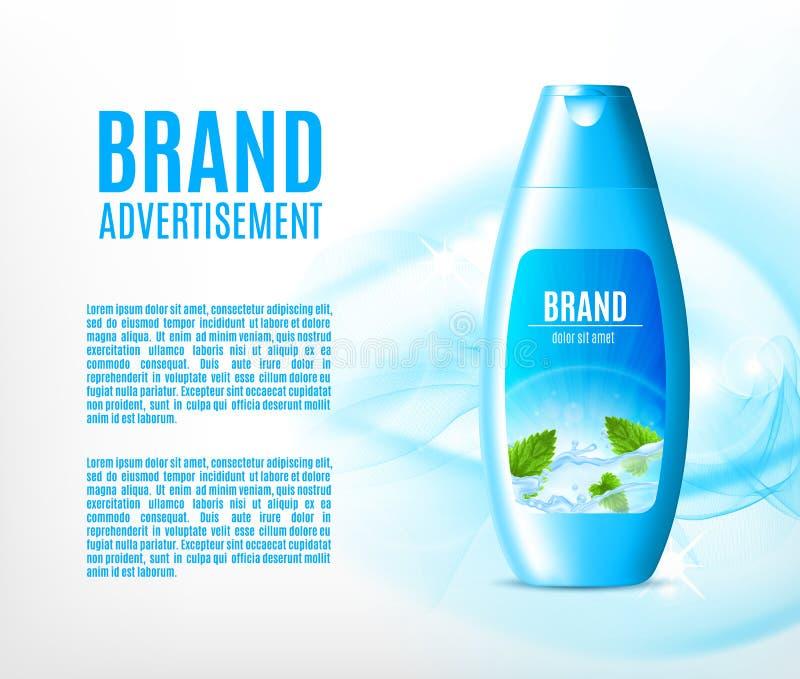 Bevochtigende shampoo voor haar royalty-vrije illustratie