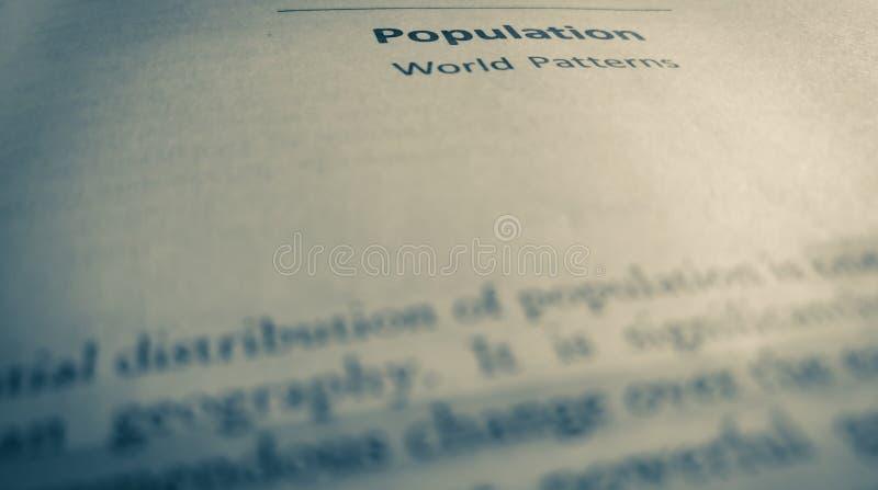 bevolking stock foto's