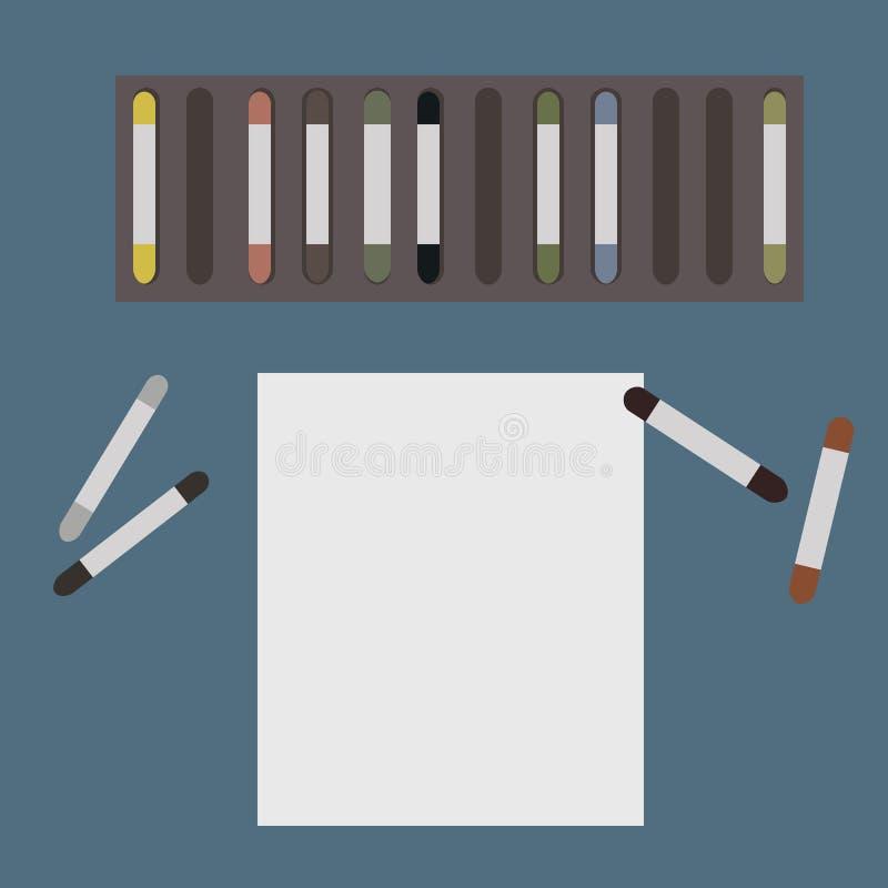 Bevor dem Zeichnen stockfotos