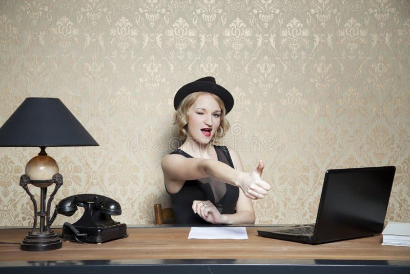 Bevordering op het werk en eigen kantoor royalty-vrije stock foto