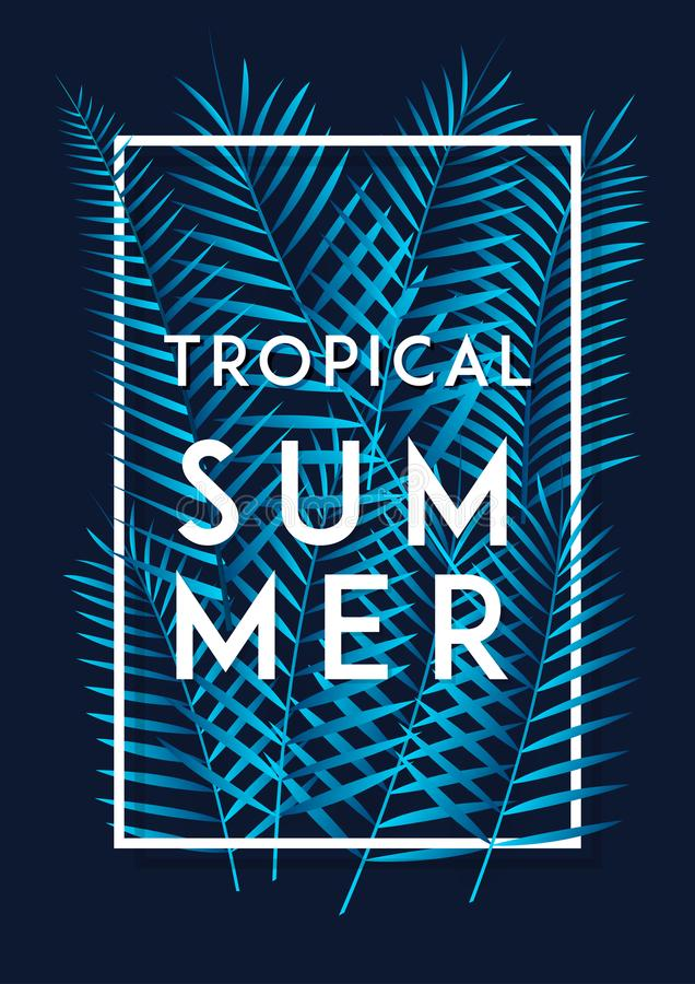 Bevordering van de de affichebanner van de de zomer de tropische vlieger royalty-vrije illustratie