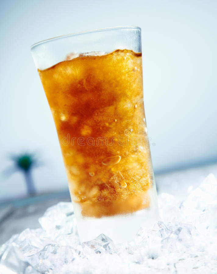 Bevroren Cokes royalty-vrije stock foto