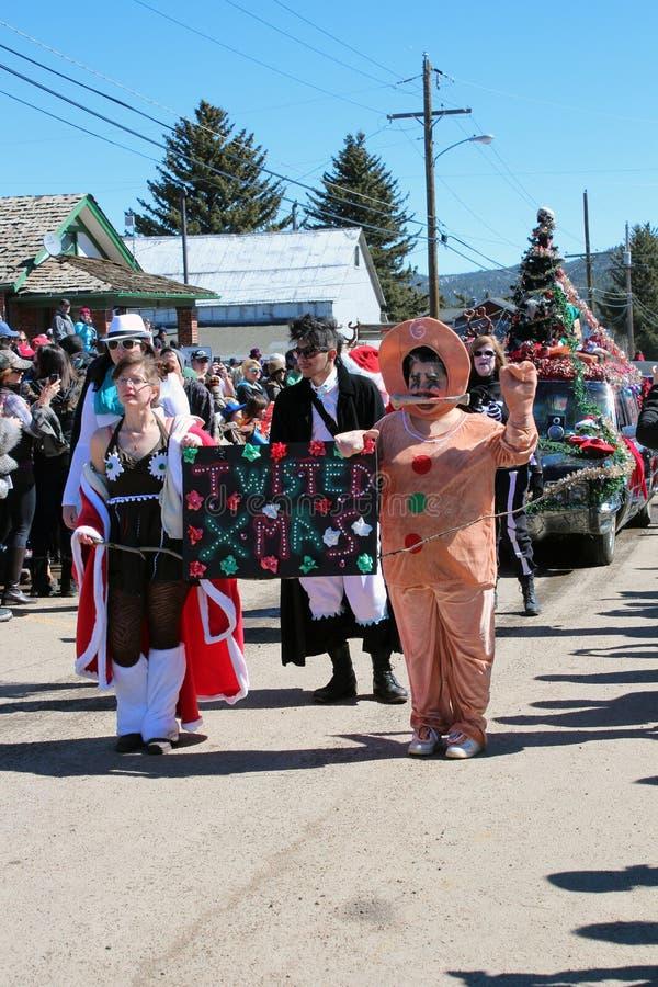 Bevroren Dood Guy Parade royalty-vrije stock foto
