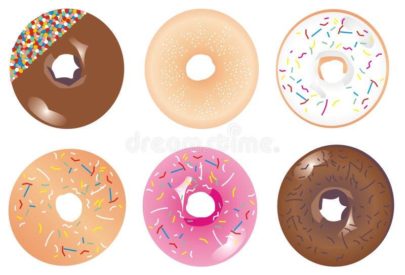 Bevroren doughnuts royalty-vrije illustratie