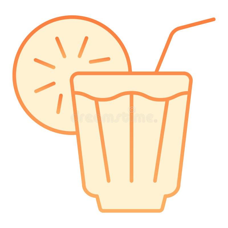 Bevroren drank vlak pictogram Limonade oranje pictogrammen in in vlakke stijl Koud die de stijlontwerp van de theegradiënt, voor  royalty-vrije illustratie