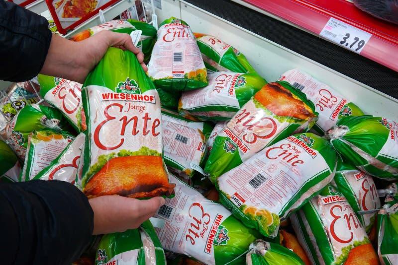 Bevroren Eendverpakking stock afbeeldingen