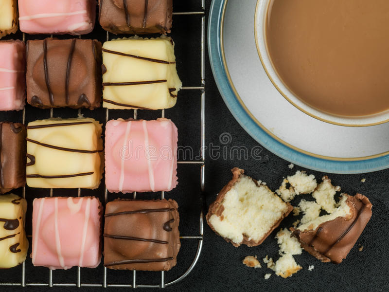 Bevroren Fondantje Buitensporig Biscuitgebak stock afbeeldingen